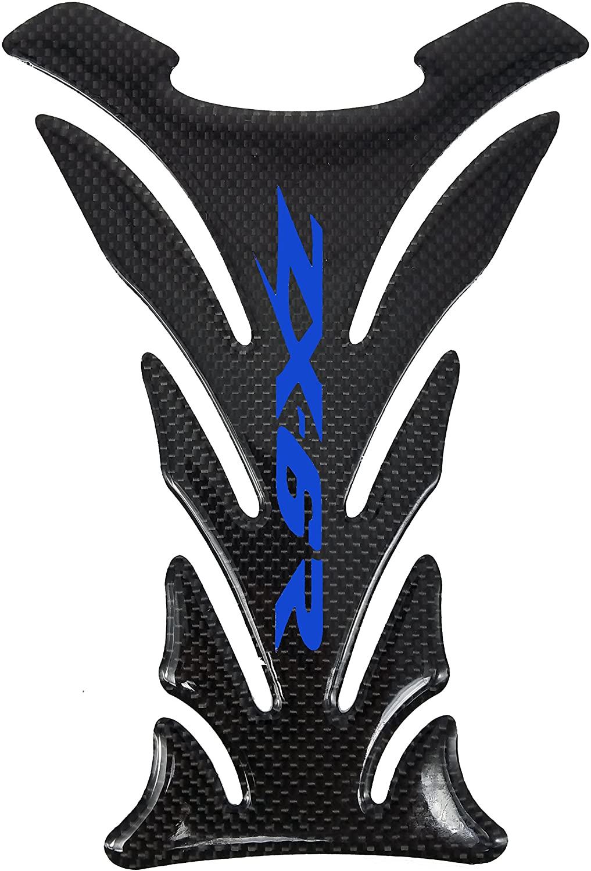 5 Layer Real Carbon Fiber 3D Blue Sticker Vinyl Decal Emblem Protection Gas Tank Pad For Kawasaki Ninja-Zx6R All