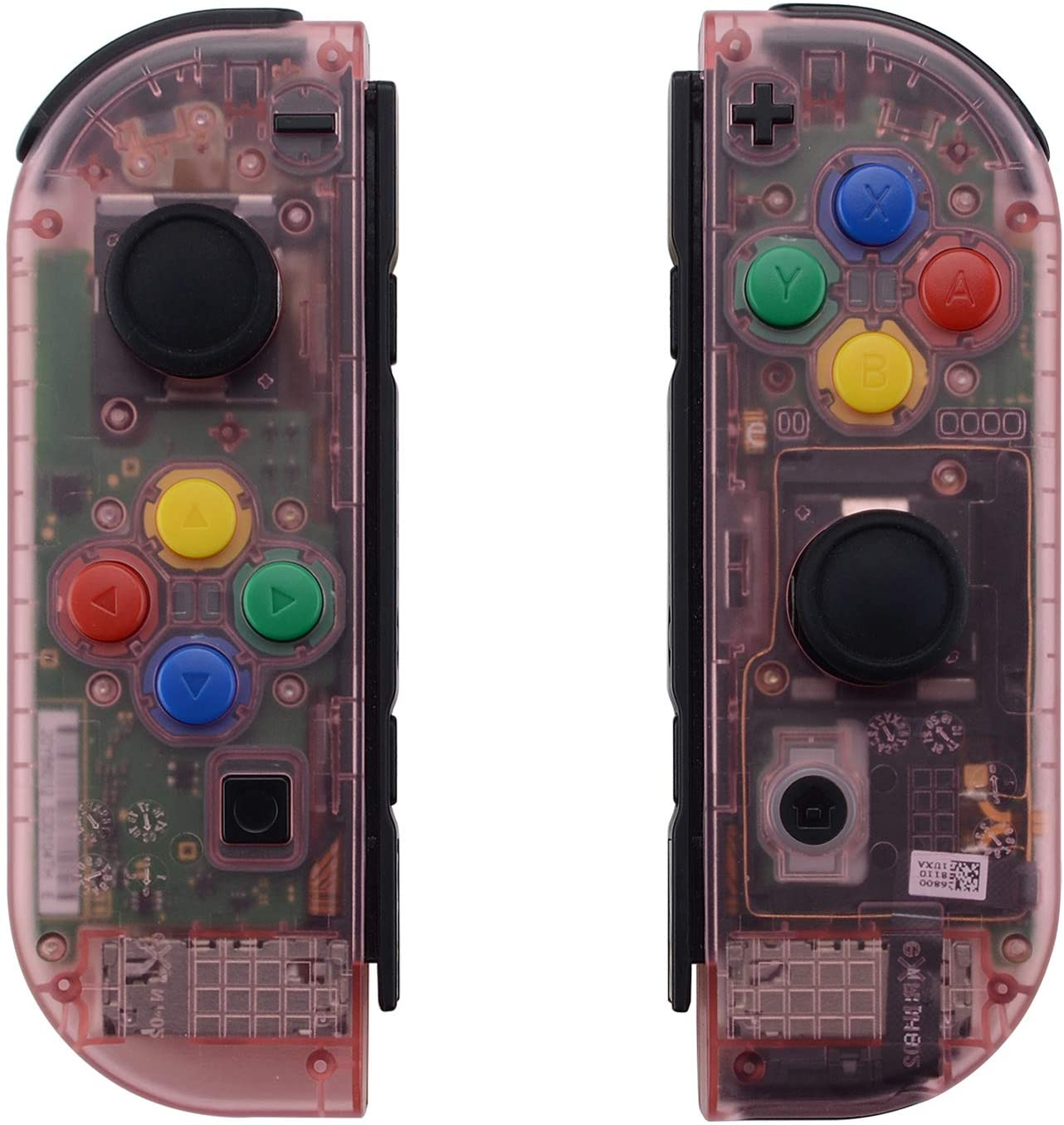 eXtremeRate Cherry Pink Joycon Handheld Controller Housing with Full Set Buttons, DIY Replacement Shell Case for Nintendo Switch Joy-Con – Joycon and Console NOT Included