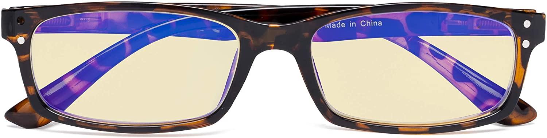 CessBlu Blue Light Blocking Glasses Anti Glare UV Eyestrain Better Sleep Yellow Tinted Filter for Women Reading