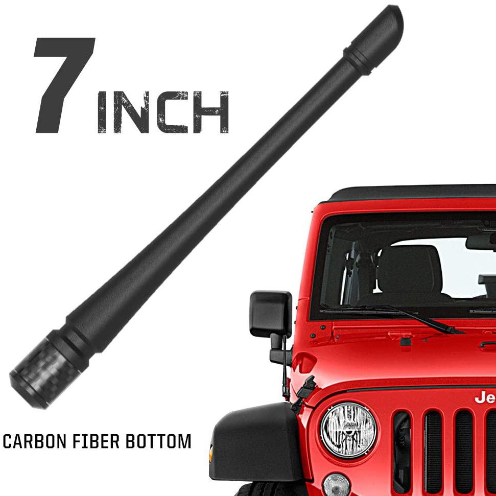 Rydonair Car Wash Proof Antenna Compatible with Jeep Wrangler JK JKU JL JLU JT Rubicon Sahara Gladiator 2007-2020 | Designed for Optimized FM/AM Reception
