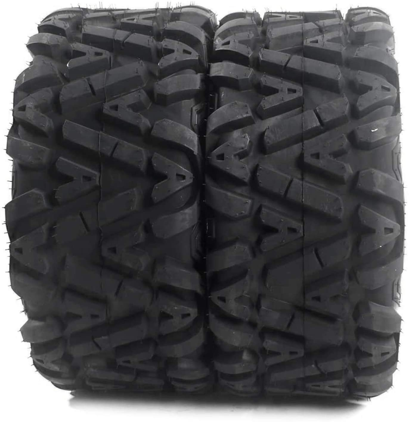 2Pcs St25x10x12 ATV UTV Tires - 25x10-12 6PR Tubeless Rear