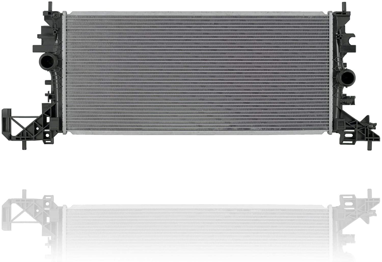 Radiator - PACIFIC BEST INC. For/Fit 16-17 Chevrolet Cruze-Sedan Automatic Transmission 1.4L-Turbo Engine - Plastic Tank, Aluminum Core - 13453907