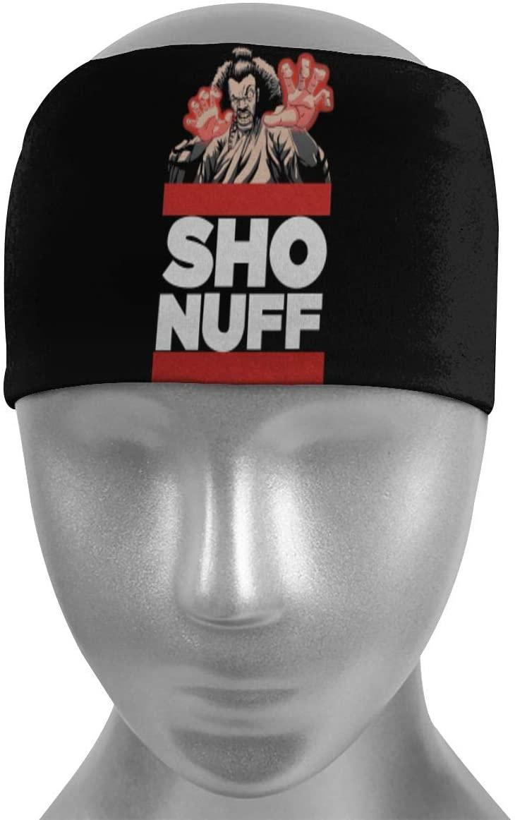 Uzila Sho Nuff The Last Dragon Sports Headbands for Women and Men Boho Headbands Head Wraps Sweatbands Hairbands Workout Thin Fitness Gym Yoga Running