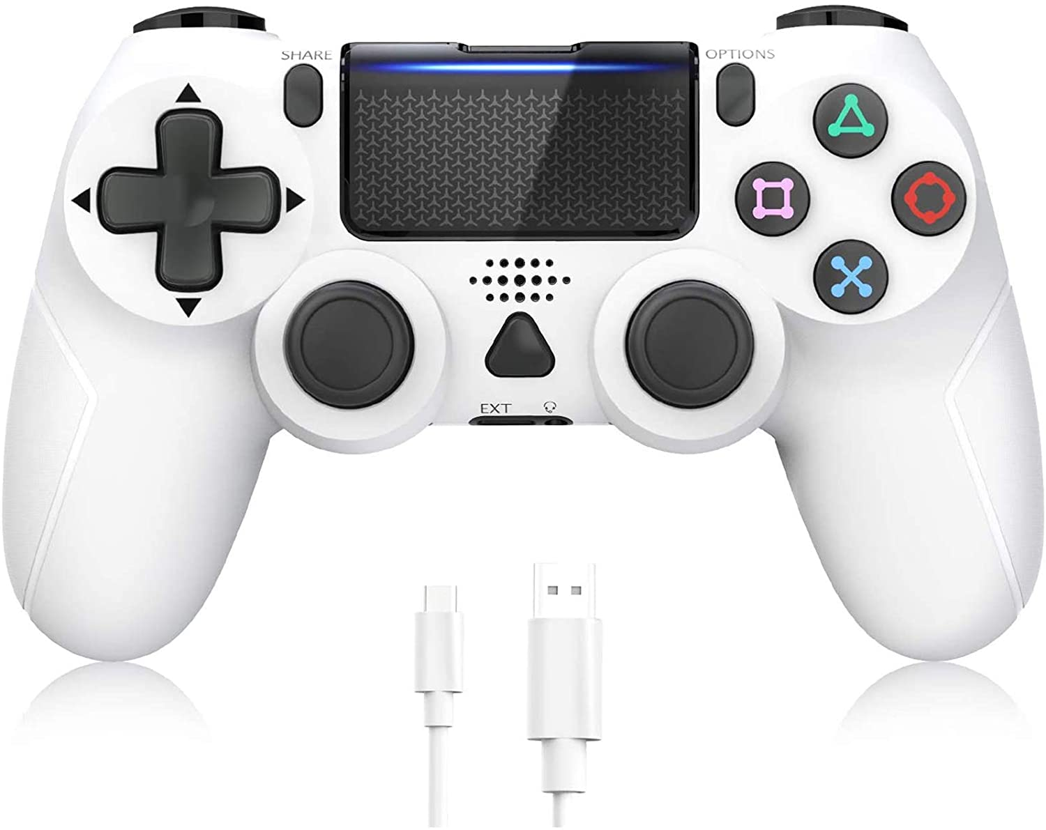 Controller for PS4, Y Team Wireless Controller Compatible with Playstation 4/Pro/Slim, Joystick Remote with Dual Motors, 6-axis Gyro and Audio Jack, 1000 mAh Battery [2020 New Version]