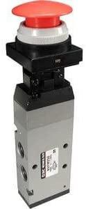 SMC NVFM250-N02-01S - SMC NVFM250-N02-01S Manual Air Control Valve, 4-Way, 5 Ports, 2 Positions, Minimum Operating Pressure:x2b;0.1MPa