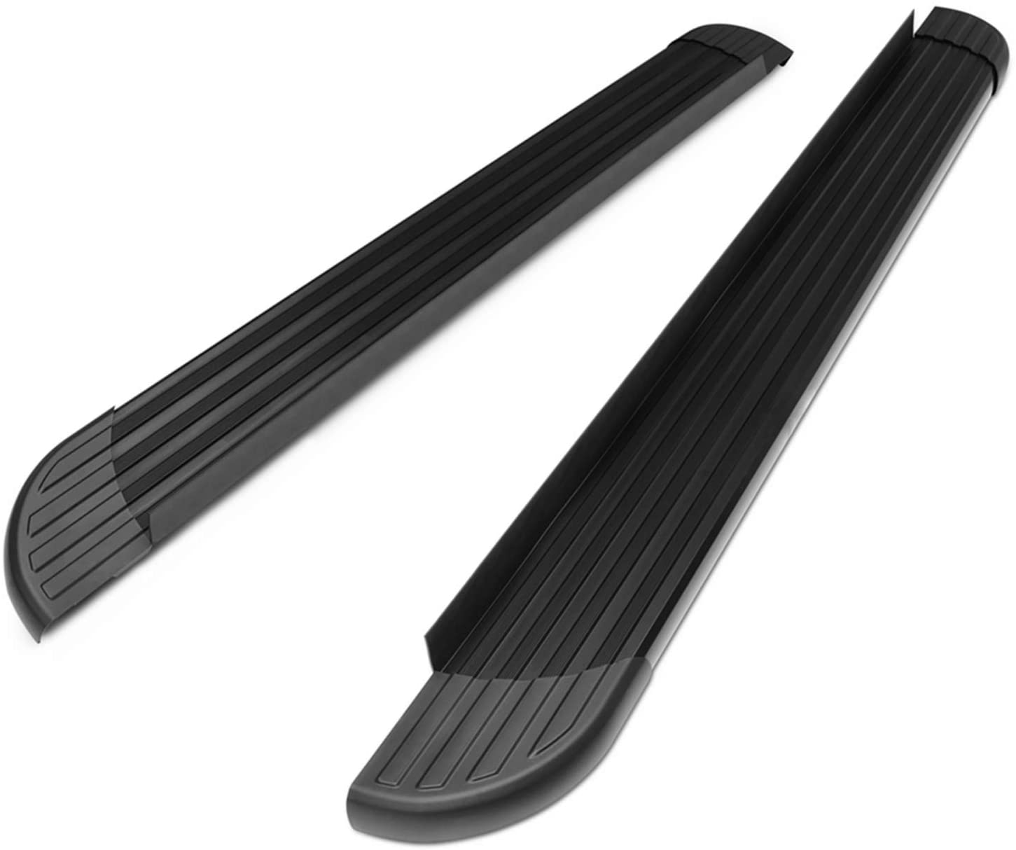 TAC Running Boards Side Steps Fit 2011-2020 Jeep Grand Cherokee (Excluding Limited X, High Altitude, SRT, SRT8, Trackhawk, Trailhawk, Summit) Value Aluminum SUV Black Nerf Bars Rock Panel 2Pcs