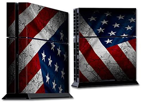 Skin Decal Vinyl Wrap for PS4 Sony Playstation 4 Console (skins only) - American Flag distressed