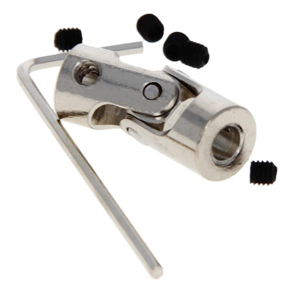 Fielect 5Pcs Universal Steering Shaft Motor Shaft Coupling Connector Diameter 9mm×23mm Aperture 4mmx4mm