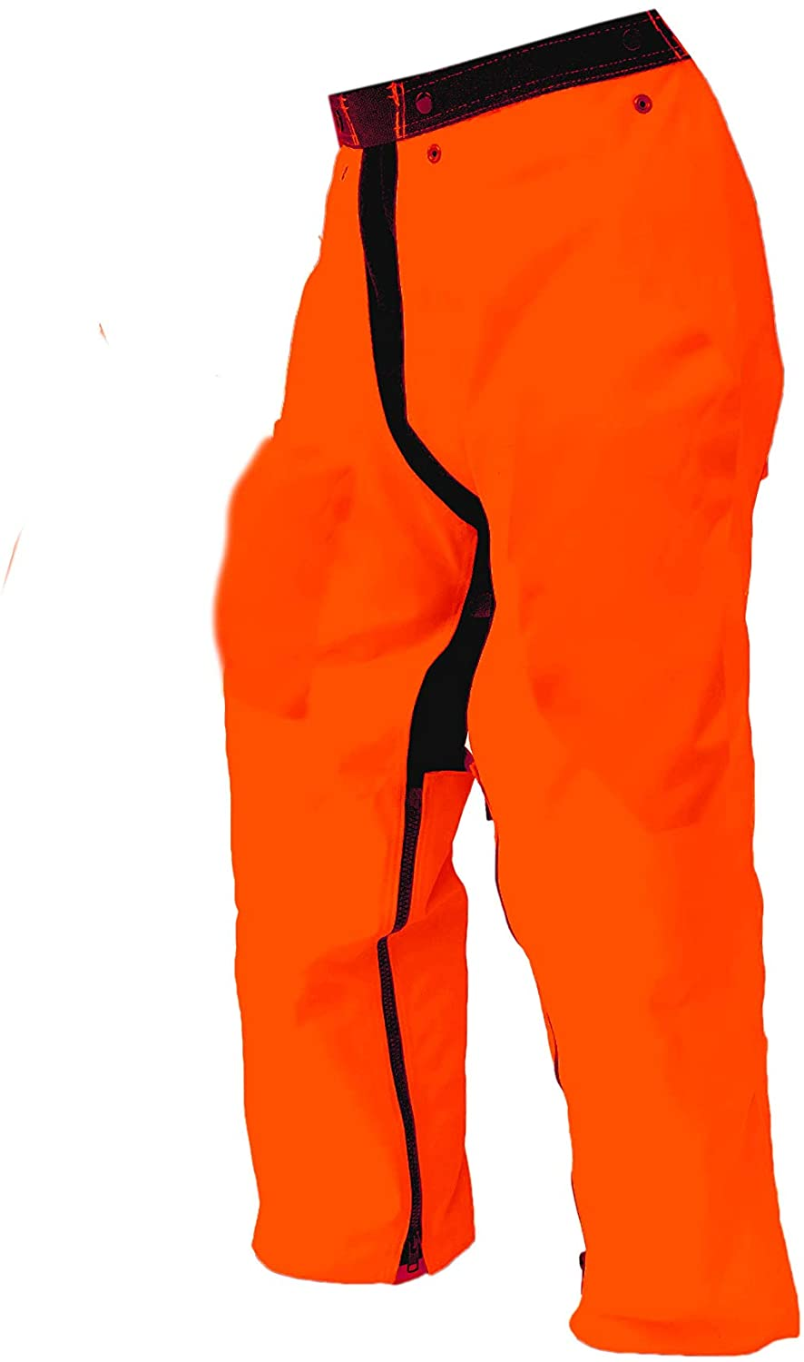 Forester Chainsaw Safety Chaps - Full Wrap Zipper - Orange (Long (40) Fits Most 6 to 64 Tall)