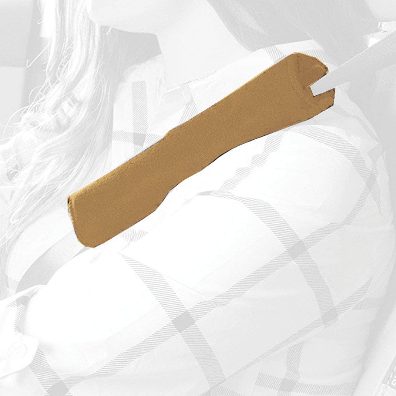 T-Rex Seatbelt Cover, Fleece Seat Belt Pad (Tan (1 Piece))