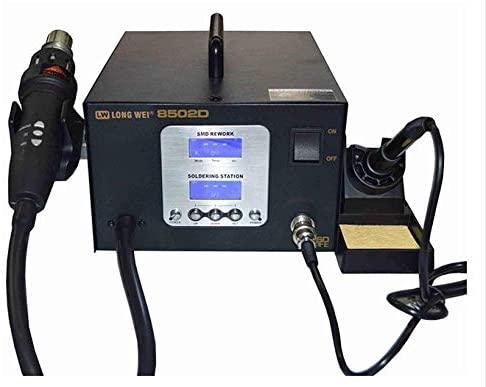 MeterTo Digital Dual LED Soldering and Desoldering Welding Station LW-8502D 600W 200℃~480℃ 2 in 1 Hot Air Soldering Station 550W 100℃~500℃ Air Flow 23L/min