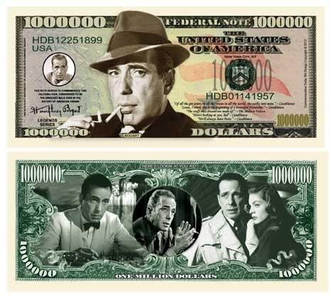 American Art Classics Pack of 5 - Humphrey Bogart Million Dollar Bill