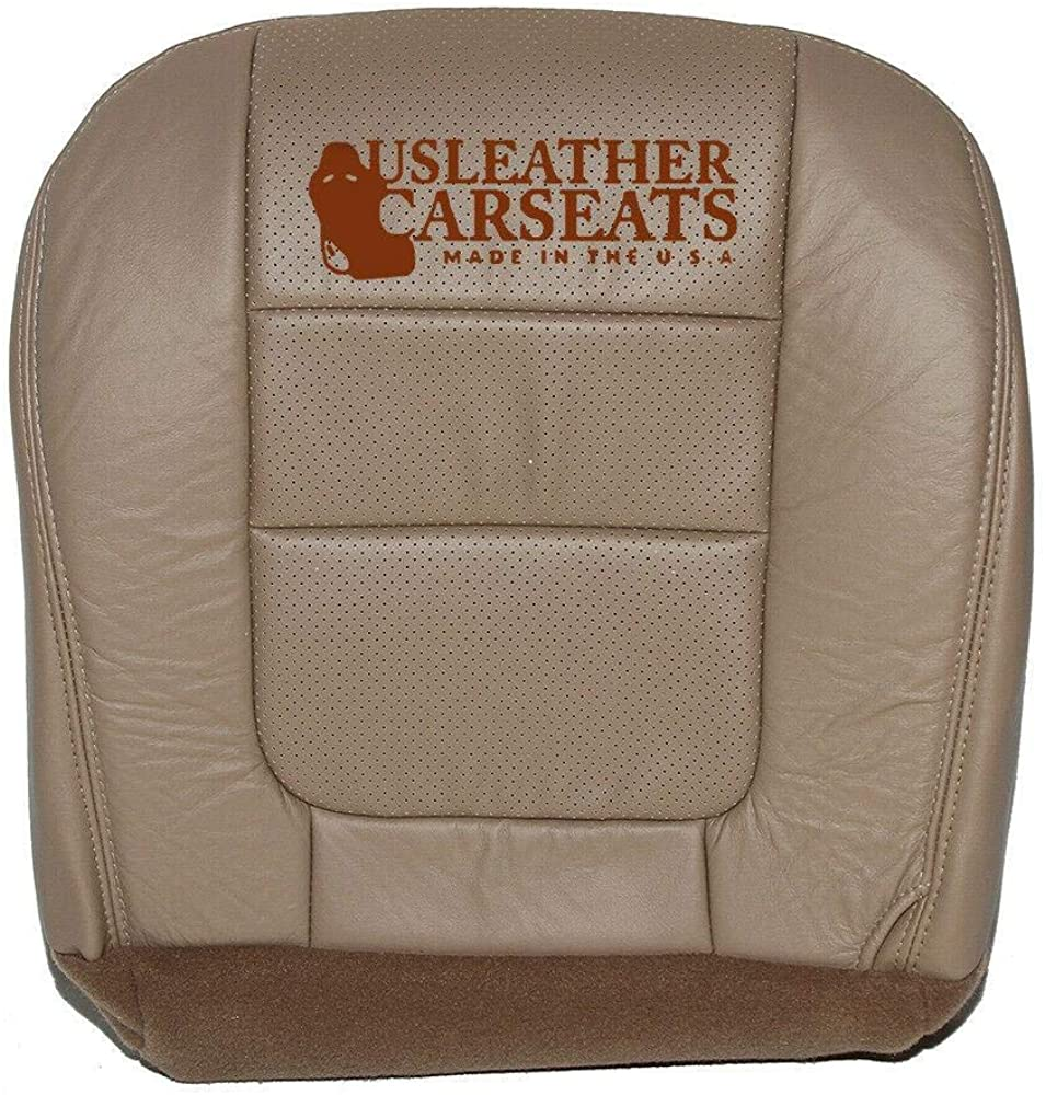 Us Leather Car Seats 2001 01 Ford F350 F250 Lariat Driver Bottom Perf Vinyl Seat Cover Parchment Tan