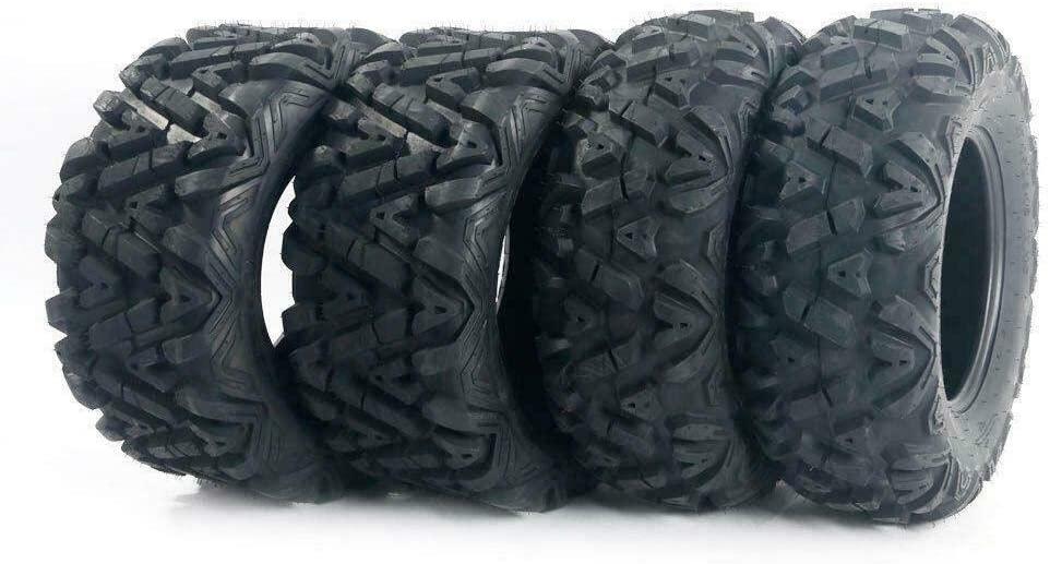 Set of (4) ATV UTV Tires 25x8-12 Front & 25x10-12 Rear 6PR All Terrain Tubeless