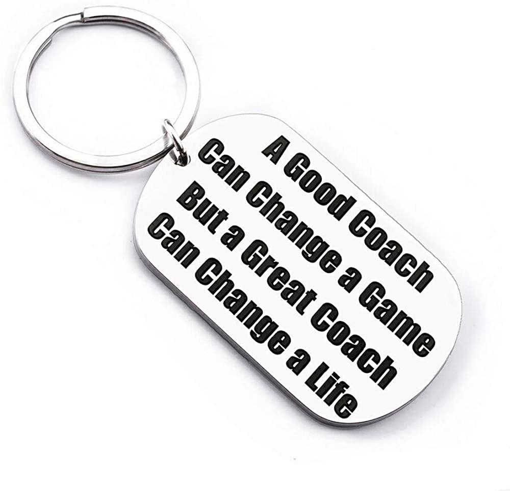Coaches Gifts Keychain for Men Women Basketball Football Soccer Basketball Swimming Baseball Cheer Birthday Teachers Appreciation Thank You Gift Keyring Jewelry