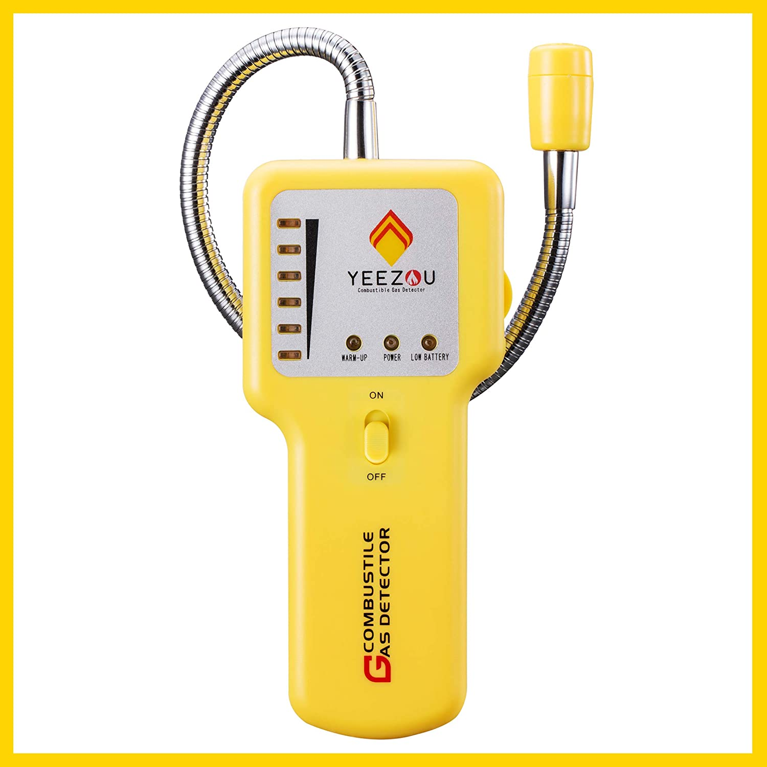 Y201 Portable Combustible Gas Leak Detector; Detect Leaks of Combustible Gases Such as Methane, Propane, Natural Gas, Fuel, LPG,LNG ;Sound Alarm