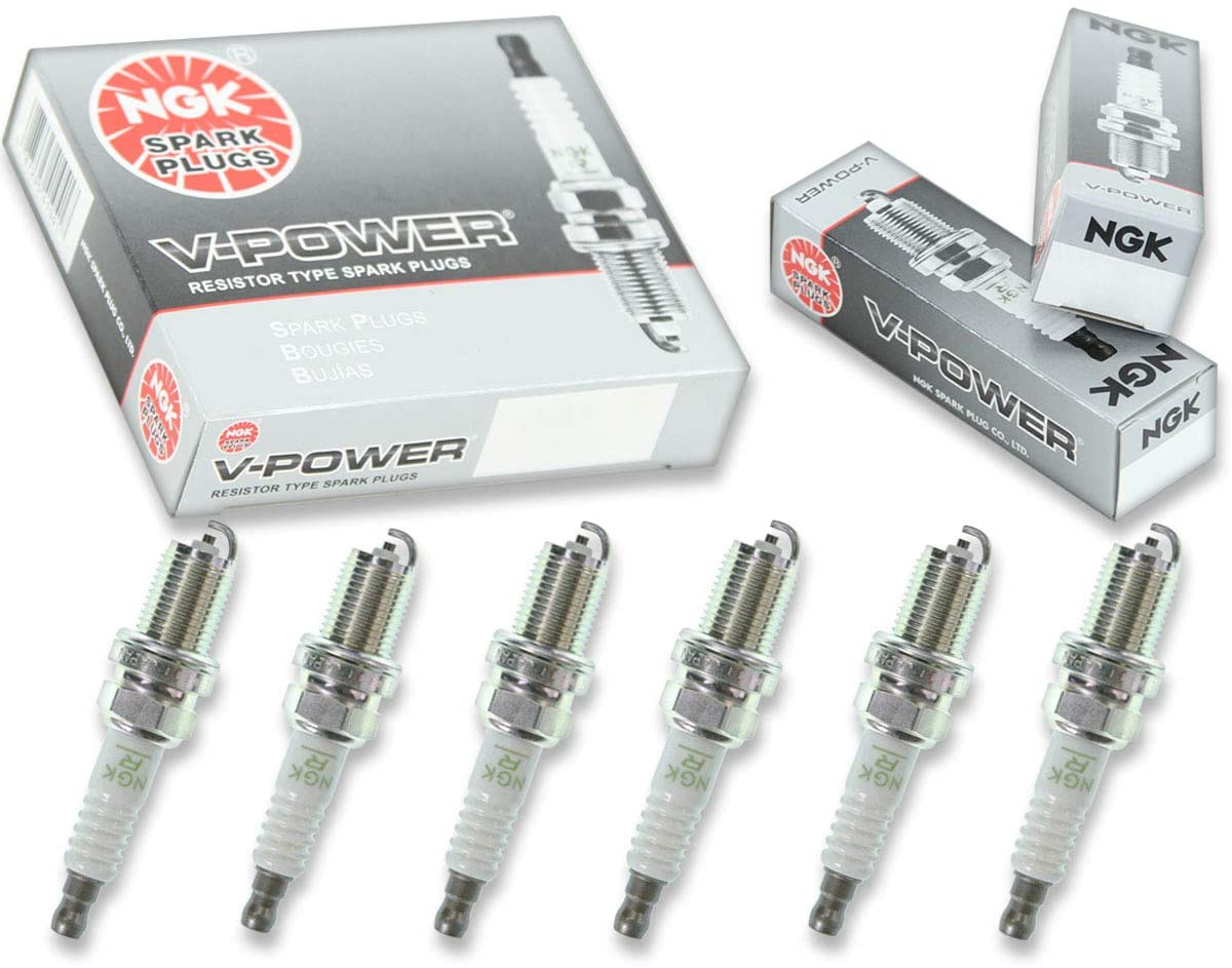 6 pcs NGK V-Power Spark Plugs for 1993-2005 Lexus GS300 3.0L L6 - Engine Kit Set Tune Up