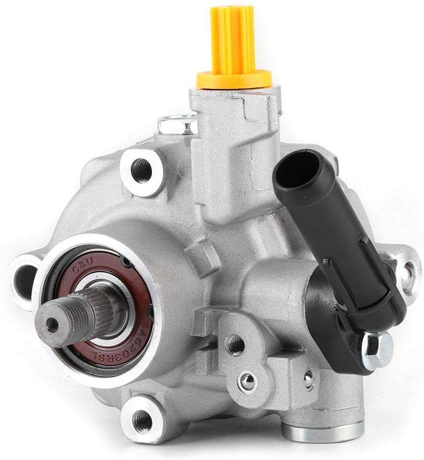 Power Steering Pump, 34430-AG03A Aluminum Alloy Steering Pump Replacement Fit for Subaru Legacy/Outback/Forester