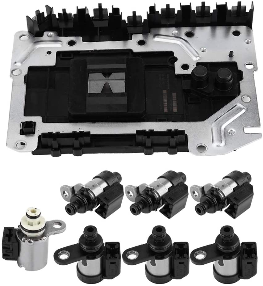 Qiilu Transmission Valve Body and Solenoids Control Unit Assembly RE5R05A for GENESIS COUPE 2008-2011 EX35 FX35 SORENTO 02-09 A