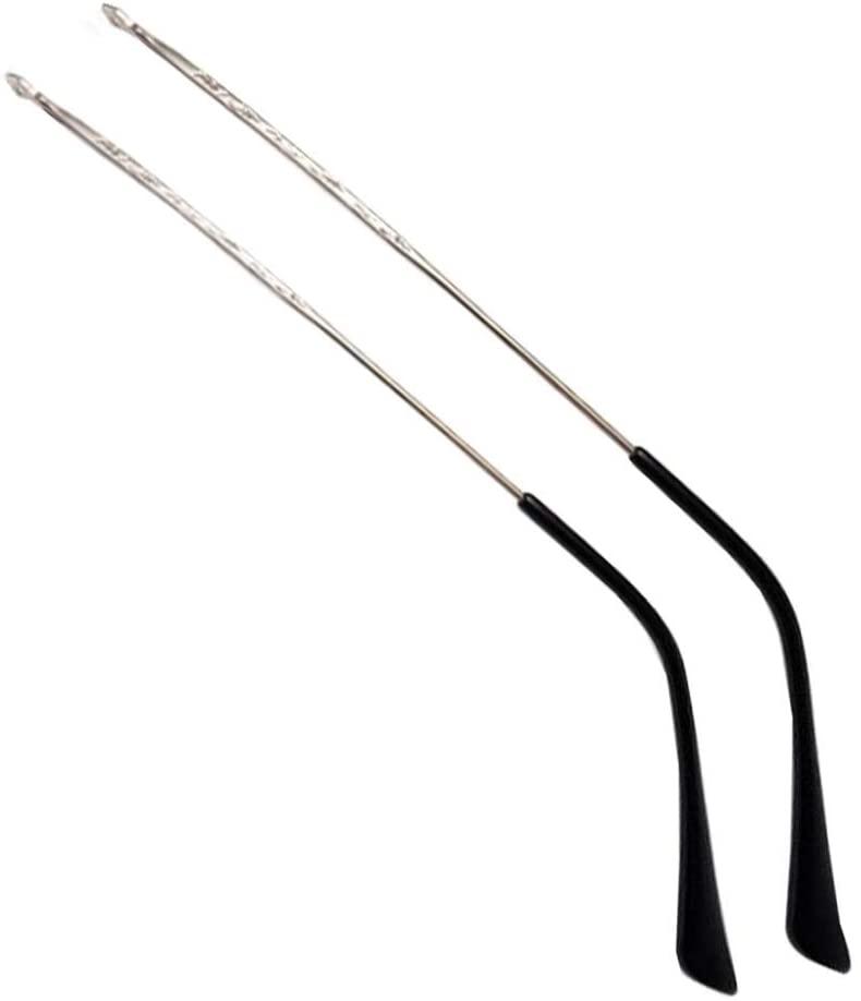 1 Pair Silver Vintage Patterned Metal Eyeglasses Replacement Temple Arms