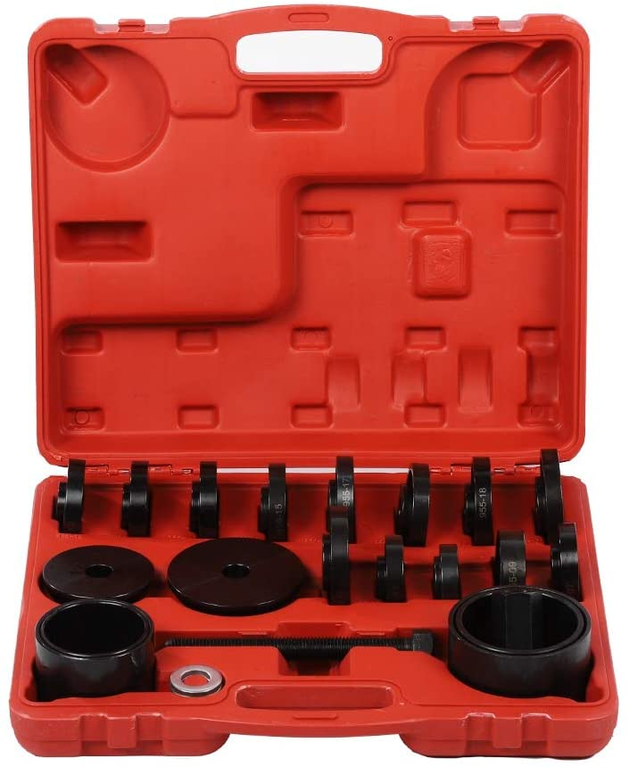 GOTOTOP Wheel Bearing Removal Tool Kit,23pcs Front Wheel Drive Bearing Puller Removal Hub Removal Bearing Installer Installation Tool Kit