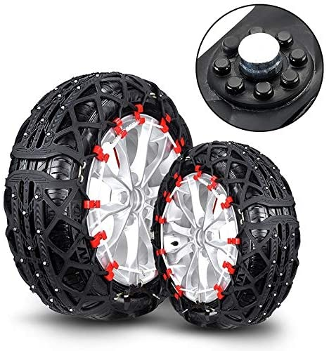 Nobrand Tyre Cover Chain L12 Car Rubber Thicken Tire Emergency Anti-Skid Chains Tyre Anti-Slip Chains (Black)