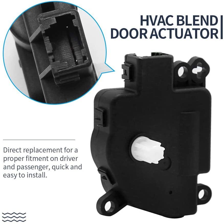 HVAC Blend Door Actuator Replacement for 2010-2016 Chrysler 300 & Chrysler Town and Country Dodge Challenger/Charger/Grand Caravan Ram C/V Ram Dakota Replaces# 68018109AA