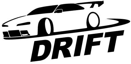CCI Drift JDM Decal Vinyl Sticker|Cars Trucks Vans Walls Laptop| Black |3.5 x 7.5 in|CCI939
