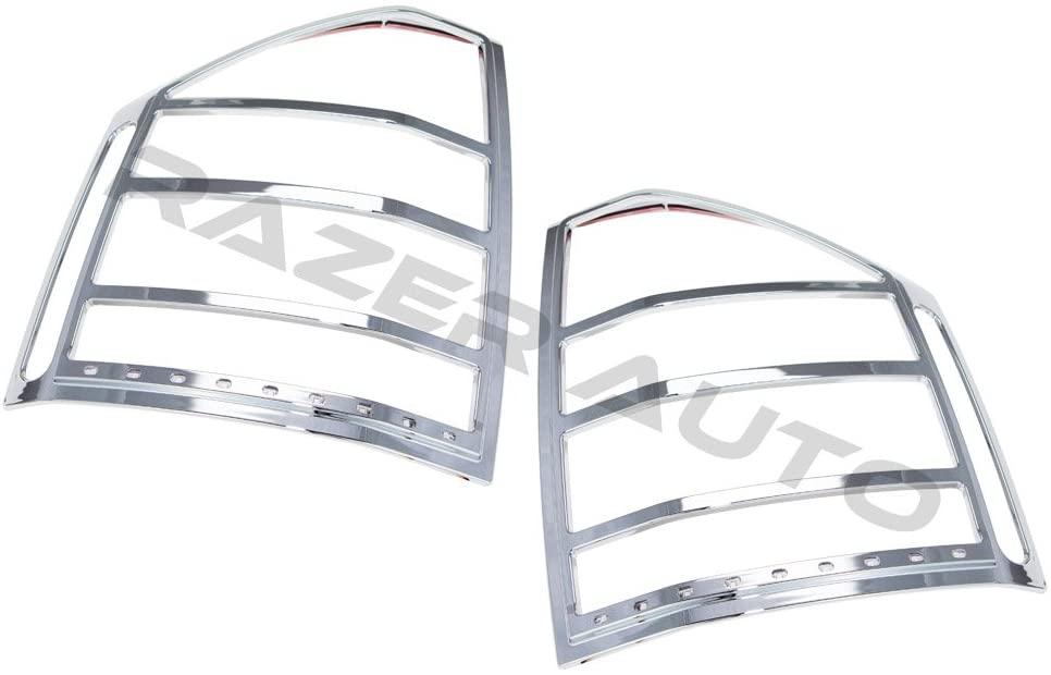 Razer Auto Chrome LED Tail Light Bezel w/Turn Signal and Brake light for 07-14 Jeep Compass