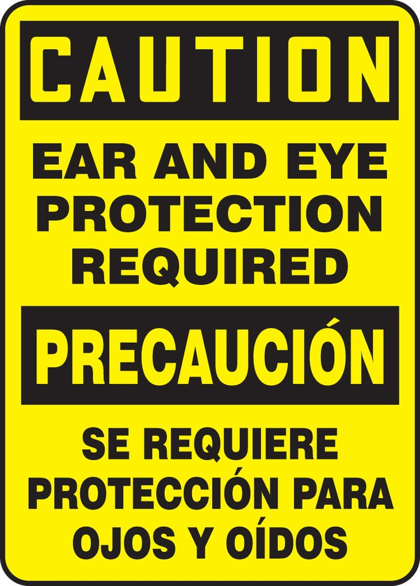 Accuform SBMPPA608VS Spanish Bilingual Adhesive Vinyl Safety Sign, Legend