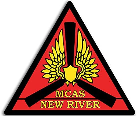 American Vinyl Marine Corps Air Station New River Sticker (USMC mcas Jacksonville nc)