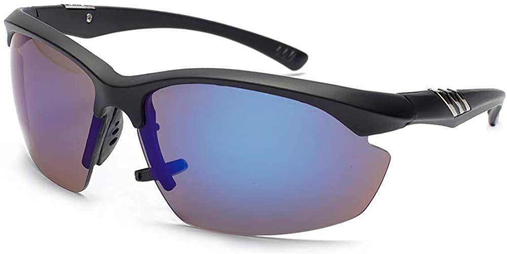 EFE Polarized Sports Sunglasses for Women Men, Semi – Rimless Fashion with UV Protection