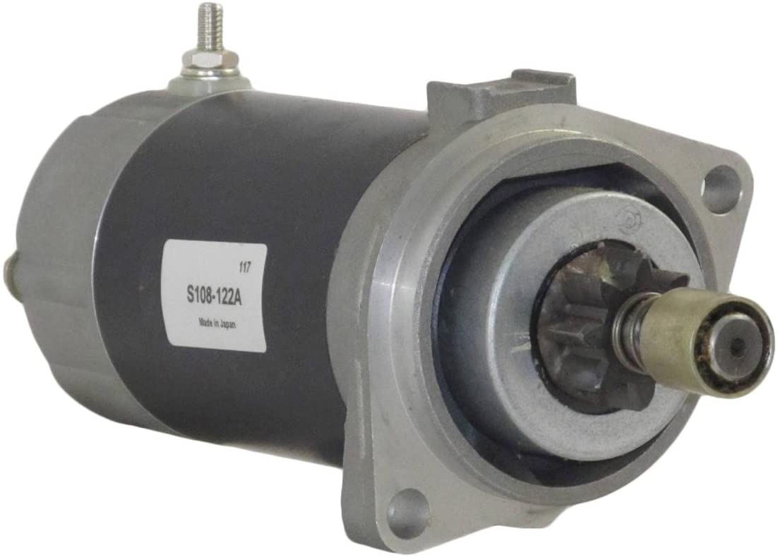 Rareelectrical NEW STARTER MOTOR COMPATIBLE WITH SUZUKI MARINE ENGINE DF25E 4-STROKE 25HP 2000-06 S108-122A S108-122A, S108122A 31100-89J01, 3110089J01