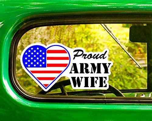 2 Proud U.S. Army Wife Decals Sticker Bogo for Window Car Jeep 4x4 Truck Laptop Bumper Rv
