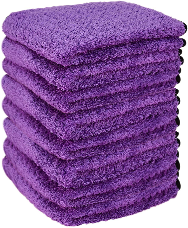 Liquid X Purple Xtreme Plush Waffle Weave Microfiber Detailing Towel Guaranteed Satisfaction - 16