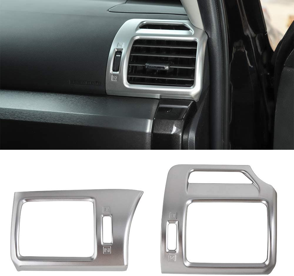 JeCar Air Conditioner Outlet Vent Plate Covers Caps Frame Trim Decals Stickers 4Runner Decoration Accessories Set of 2Pcs for Toyota 4Runner 2010-2019 Silver