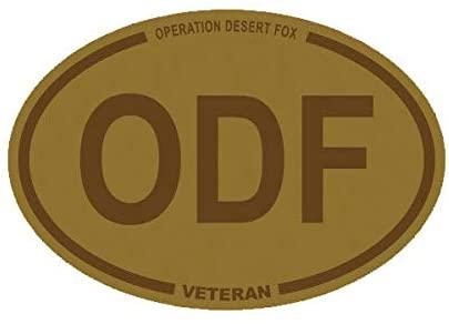 EW Designs Desert Camo Operation Desert Fox Veteran ODF Oval Sticker Army USMC Navy USAF Bumper Sticker Vinyl Sticker Car Truck Decal 5