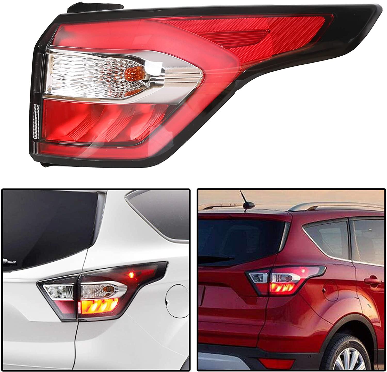 JMTAAT Passenger Right Side Outer Tail Light Brake Lamp For Ford Escape Kuga 2017 2018 2019 W/Blub