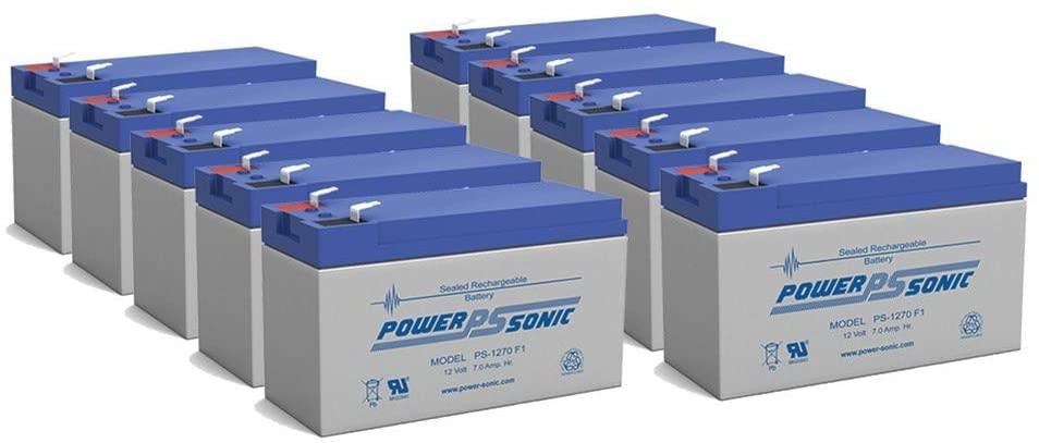 Power Sonic Alarm Lock RBAT6 Replacement Battery 12V 7Ah - 10 Pack