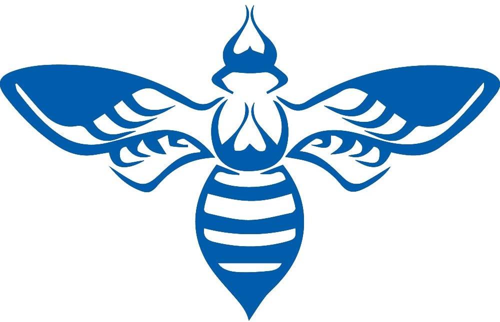 NBFU DECALS Tribal BEE 1 (Azure Blue) (Set of 2) Premium Waterproof Vinyl Decal Stickers for Laptop Phone Accessory Helmet Car Window Bumper Mug Tuber Cup Door Wall Decoration