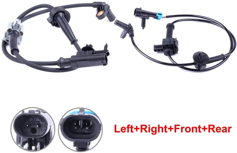 ECCPP Left/Right Front/Rear ABS Wheel Speed Sensors Compatible with Chevy Silverado 1500/Silverado 3500 HD,GMC Sierra 1500/Sierra 2500 HD/Sierra 3500 HD ALS1464 ALS1465 Set of 2