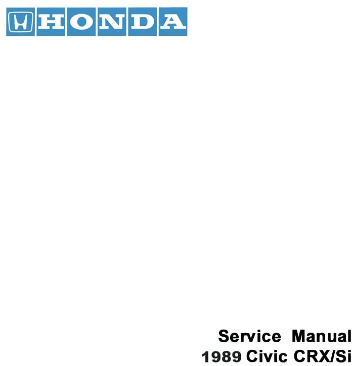 bishko automotive literature 1989 Honda Civic CRX/Si Shop Service Repair Manual Book Engine Electrical OEM