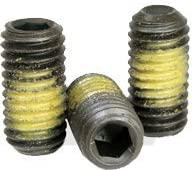 Newport Fasteners Nylon Patch Socket Set Screws Cup Point, 10-32 x 1, Alloy Steel, Black Oxide, Hex Socket (Quantity: 100) Fine Thread, 10 Grub/Blind/Allen/Headless Screw, Length: 1 inch