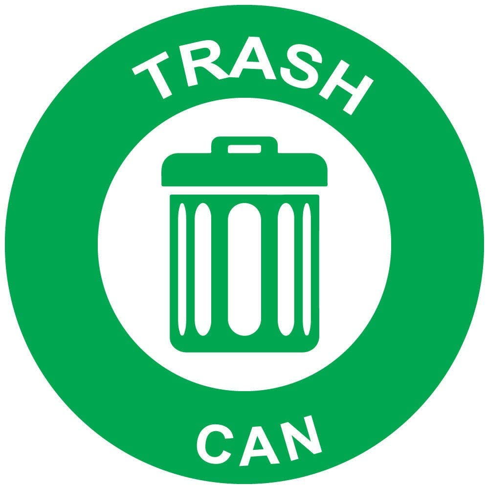 Trash Can Green Sticker Decal 8