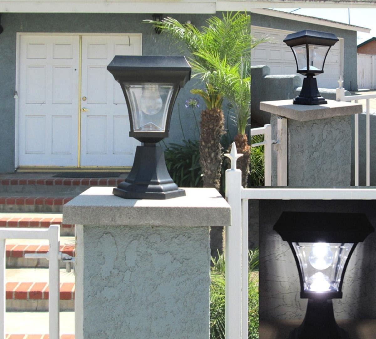 GSL SS-GSL-PLD205 Ultra Bright 4 LEDs Solar Fence Gate Lamp Post