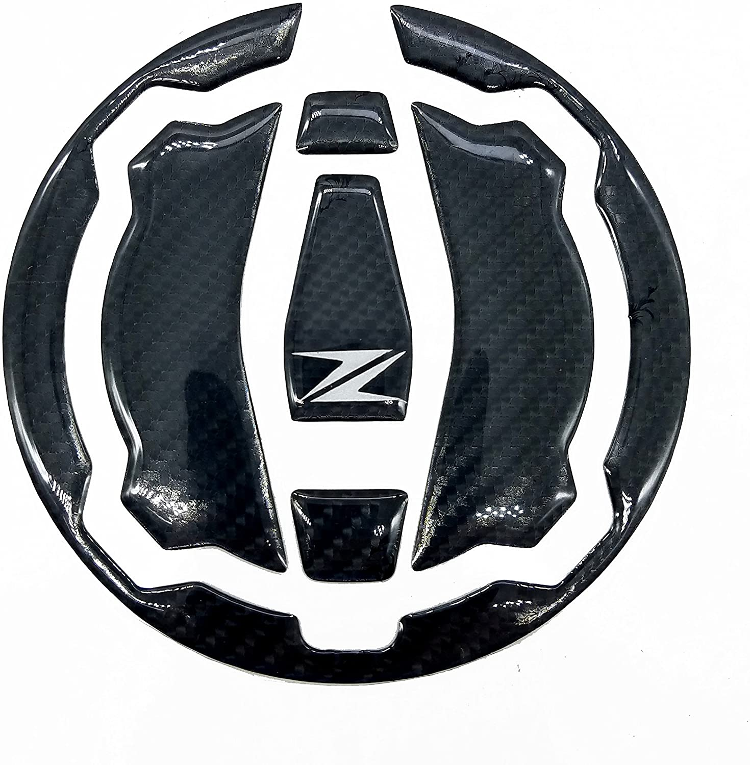 Real Carbon Fiber Fuel Gas Tank Cap Protector Pad For Kawasaki ninja 650 Z650 Z900 2017UP