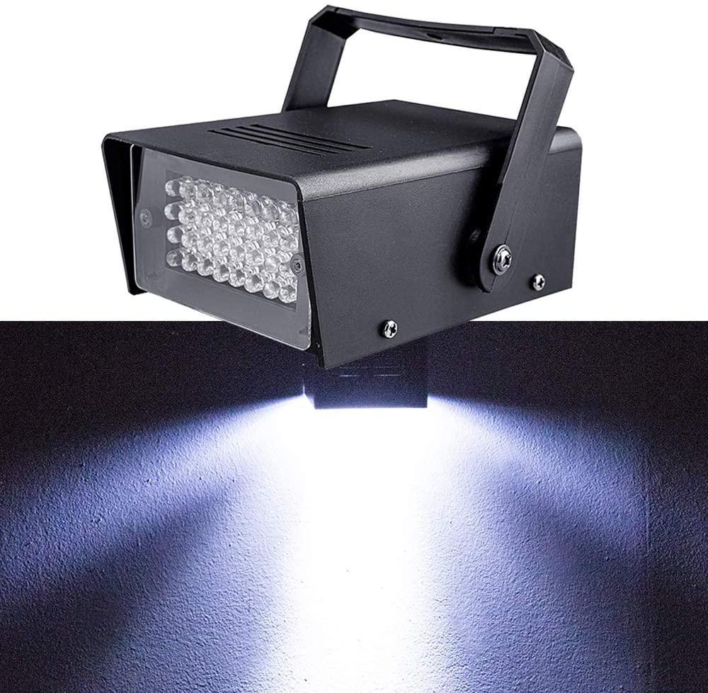 Led Strobe, Strobe Light, Super Bright Flash Light, 32Pcs White Led Lamp, Use For Disco, Ballroom, KTV, Bar, Club, Party, Wedding