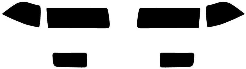 Rvinyl Rtint Headlight Tint Covers for BMW 3-Series 1992-1998 - Blackout Smoke