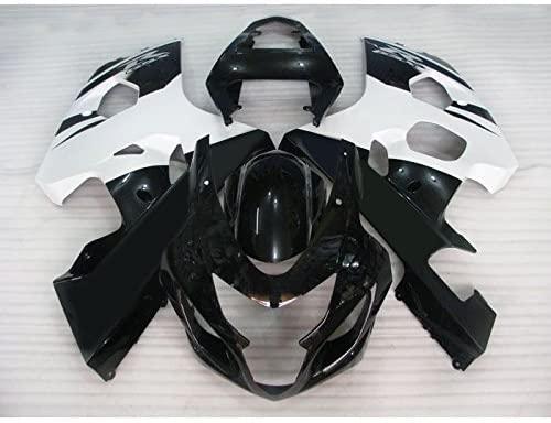 Wotefusi Brand New Motorcycle ABS Plastic Painted Injection Mold Bodywork Fairing Kit Set for Suzuki Gsxr600 Gsxr750 K4 2004 2005 Black