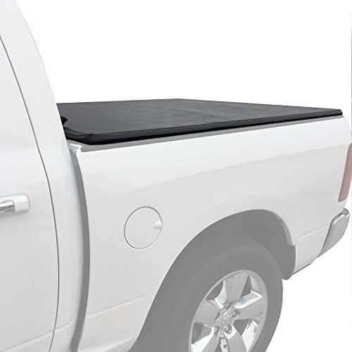 Black Horse PRS-GM24 Premier Tri-Fold Soft Tonneau Cover Compatible with 2019-2020 Chevy Silverado/GMC Sierra 6.6ft Bed